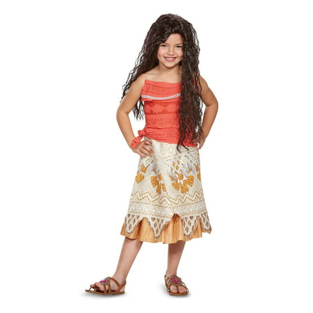 Disney Princess Moana Classic Child Costume - Girl Transformer Halloween Costume