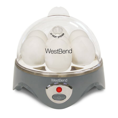 West Bend 87628 Automatic Electric 7 Egg Cooker, Grey