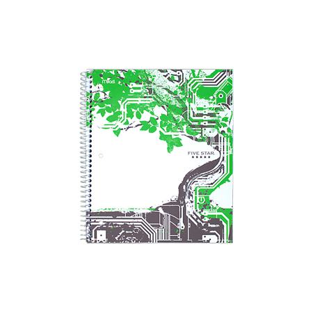 Five StarGraphics Notebook, CollegeRule, Navy/Lime