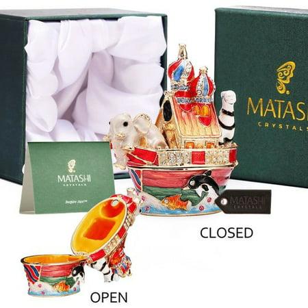 Matashi Crystal Noahs Ark Decorative Box
