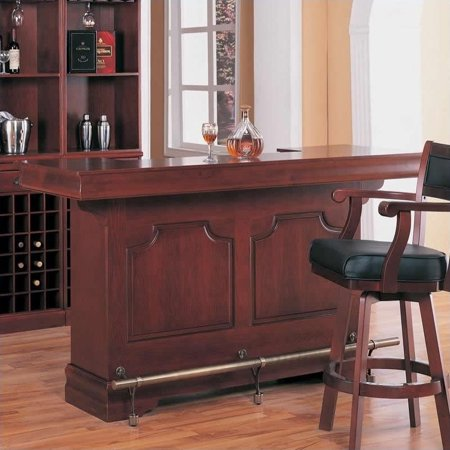 Coaster Lambert Traditional Home Bar Unit with Sink in Cherry