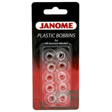 Janome Style J Plastic Bobbins (10 (Plastic Sided Embroidery Bobbins)