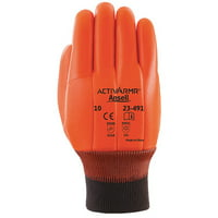 ANSELL Cut Resistant Gloves,L,Hi Vis Orange,PR 23-491