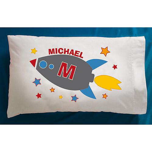 Personalized Rocket Pillowcase
