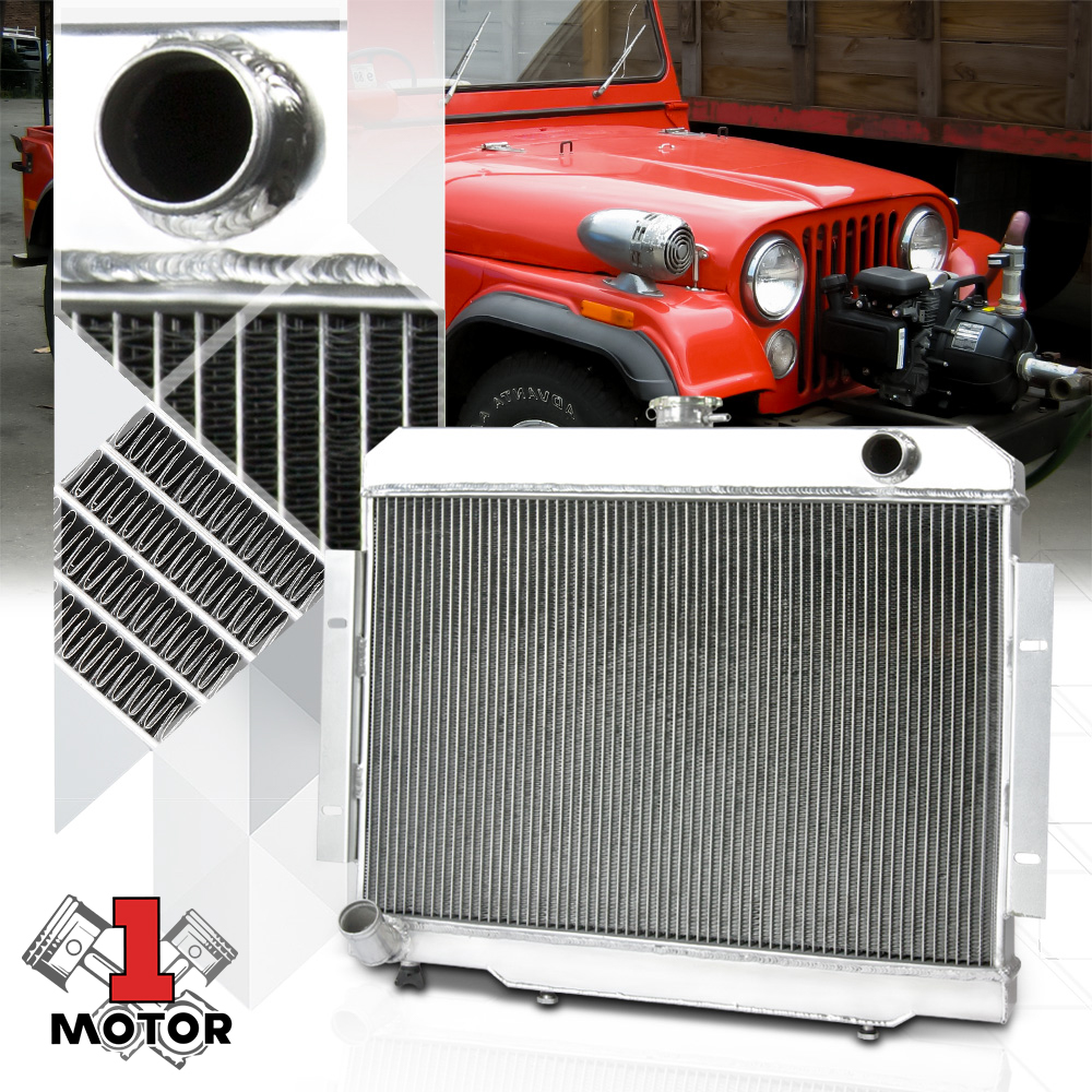 "3 Rows Aluminum Radiator Fit JEEP 72-83 CJ5 73-75 CJ6 76-86 CJ7 24/""Wide Core"