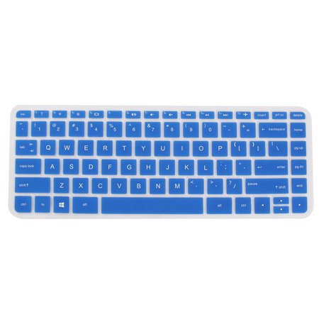 Unique Bargains Computer Silicone Anti Dust Protector Skin Keyboard Cover Blue for HP 14 inch ()
