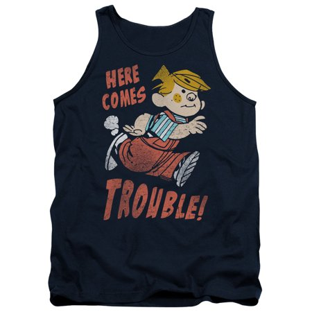 Dennis The Menace Here Comes Trouble Mens Tank Top Shirt