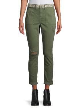 Women's Belted Utility Crop Pant