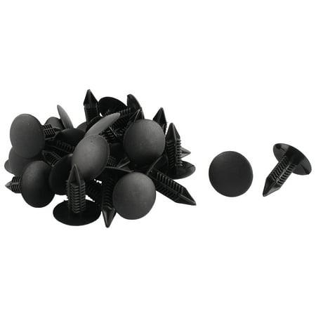 30 Pcs Black Plastic Splash Defender Push-Type Bumper Mat Clips for