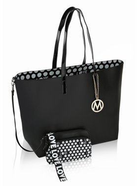 MKF Collection Taylor Reversible Shopper Tote with Wallet Pouch/ Wristlet by Mia K.