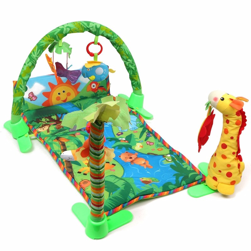 Baby Gyms And Playmats,Baby Infant Gift Rainforest Melodies and Deluxe Gym,Rainforest Musical Activity Play Gym Playmat Toy Mat