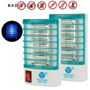 BadPiggies 2Packs Socket Electric Mosquito Killer Lamps LED Pest Control Fly Bug Insect Trap Killer Zapper Night Lamp Repeller Lights