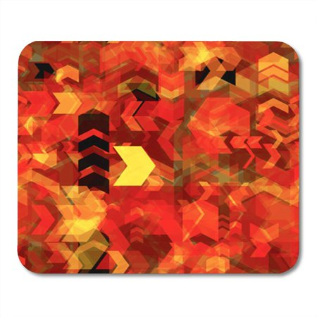 POGLIP Arrow Chevrons Herringbone Patterns Red Yellow Brown Black Colors Mousepad Mouse Pad Mouse Mat 9x10 inch - image 1 de 1