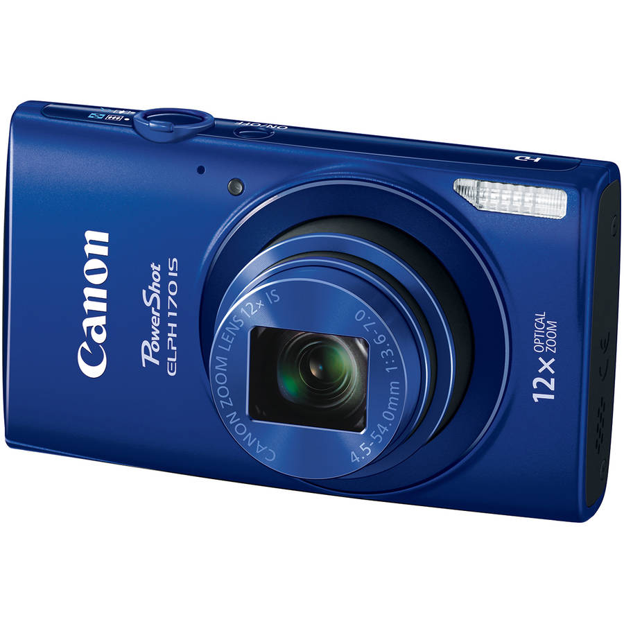 Canon PowerShot ELPH170 IS Digital Camera with 20 Megapixels and 12x Optical Zoom, Blue