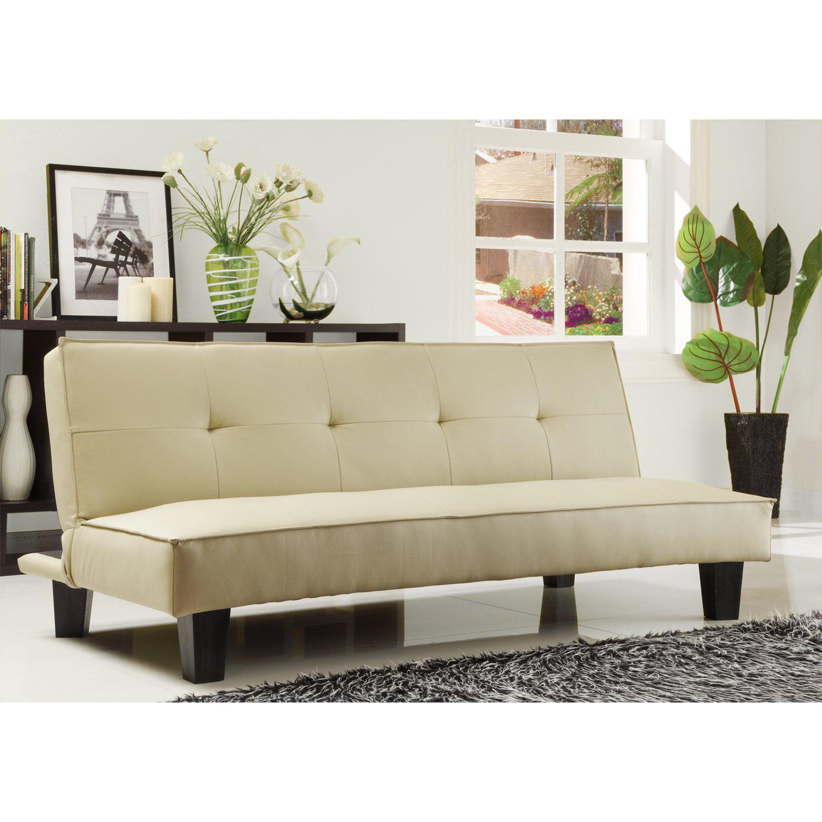 Chelsea Lane Tufted Mini Sofa Bed Lounger Walmart