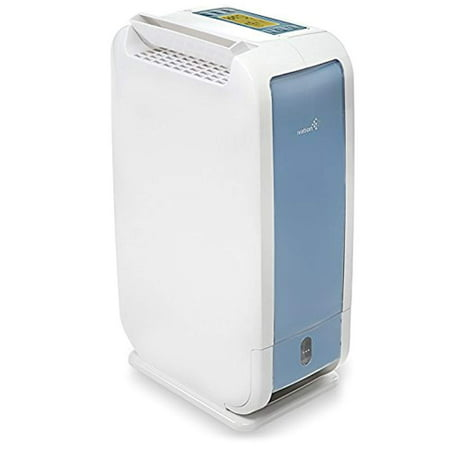 Ivation 13-Pint Small-Area Desiccant Dehumidifier Compact and Quiet - With Continuous Drain Hose for Smaller Spaces, Bathroom, Attic, Crawlspace and Closets - For Spaces Up To 270 Sq
