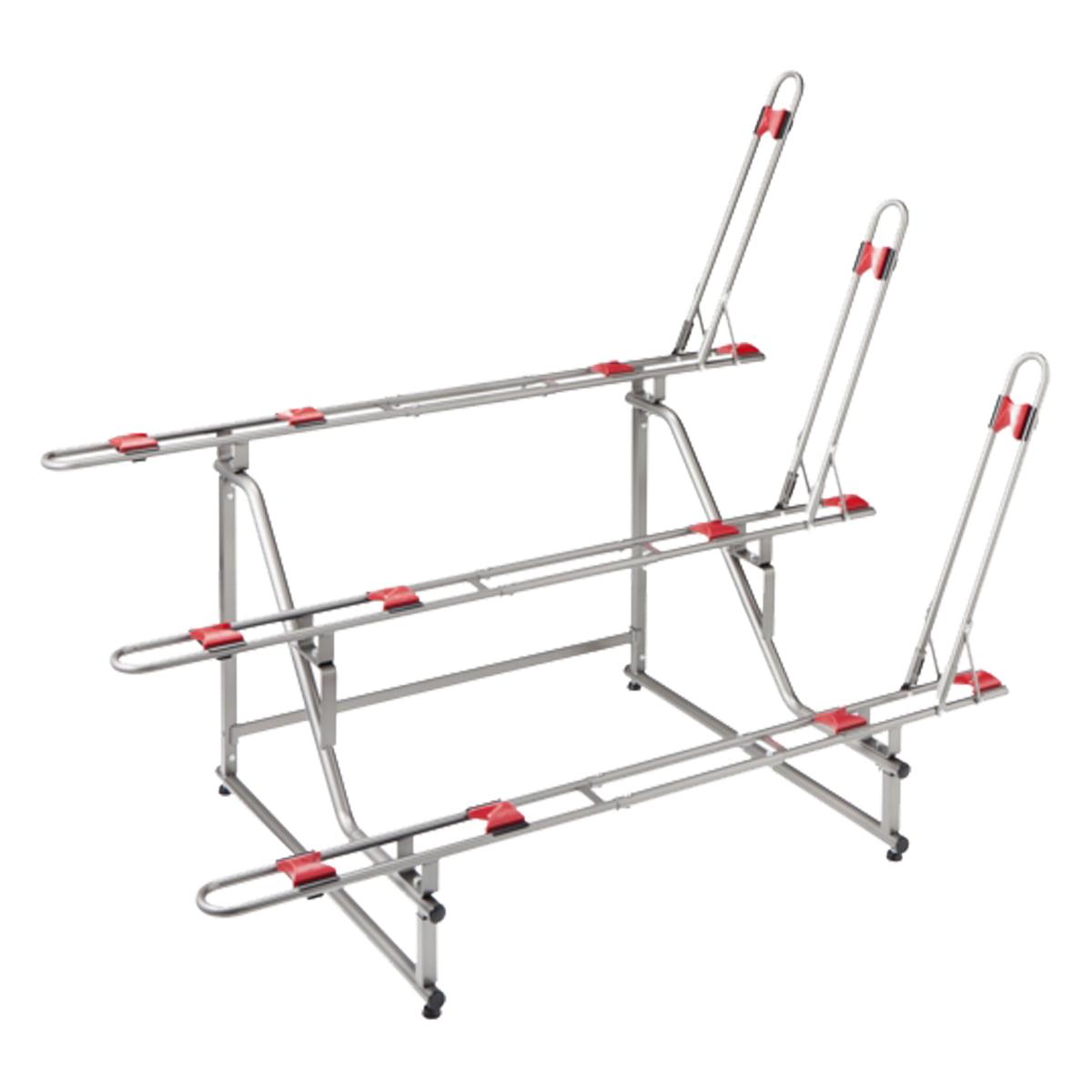 Minoura Ebs-3 Hd Tier 3-Bike Storage Stand Gray