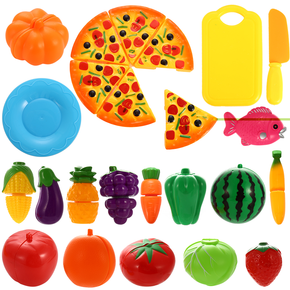 Toy Food For Toddlers : Funslane pcs play food set for kids plastic cutting