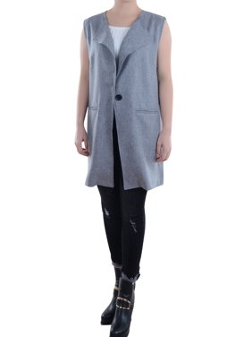 2f32db1a5cdb7 Product Image Casual Womens Vest Sleeveless Long Duster Coat Jacket  Cardigan Suit Waistcoat