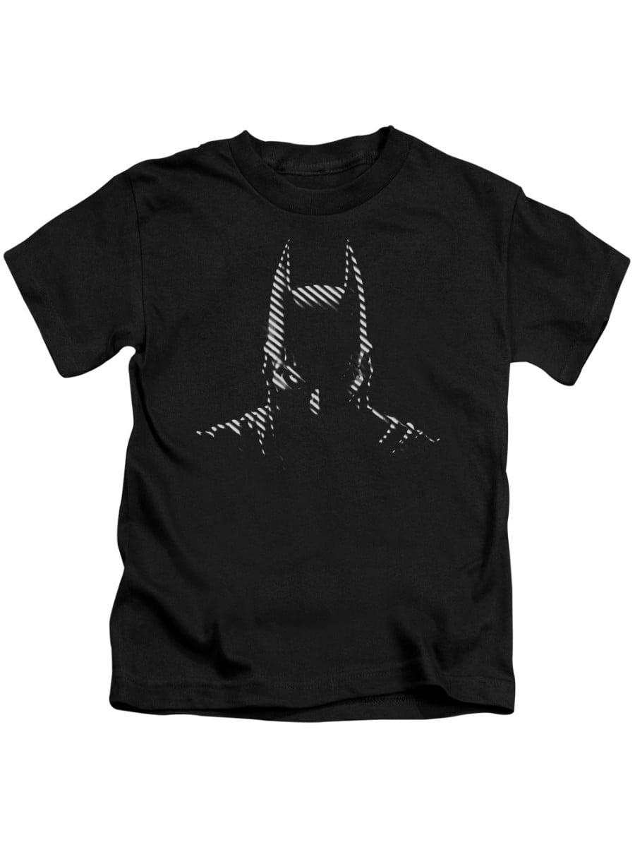 Batman Noir T-shirt Trevco Black Kids Unisex 100% Cotton Short Sleeve