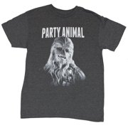 Star Wars Mens T-Shirt - Party Animal Chewbacca Face Image