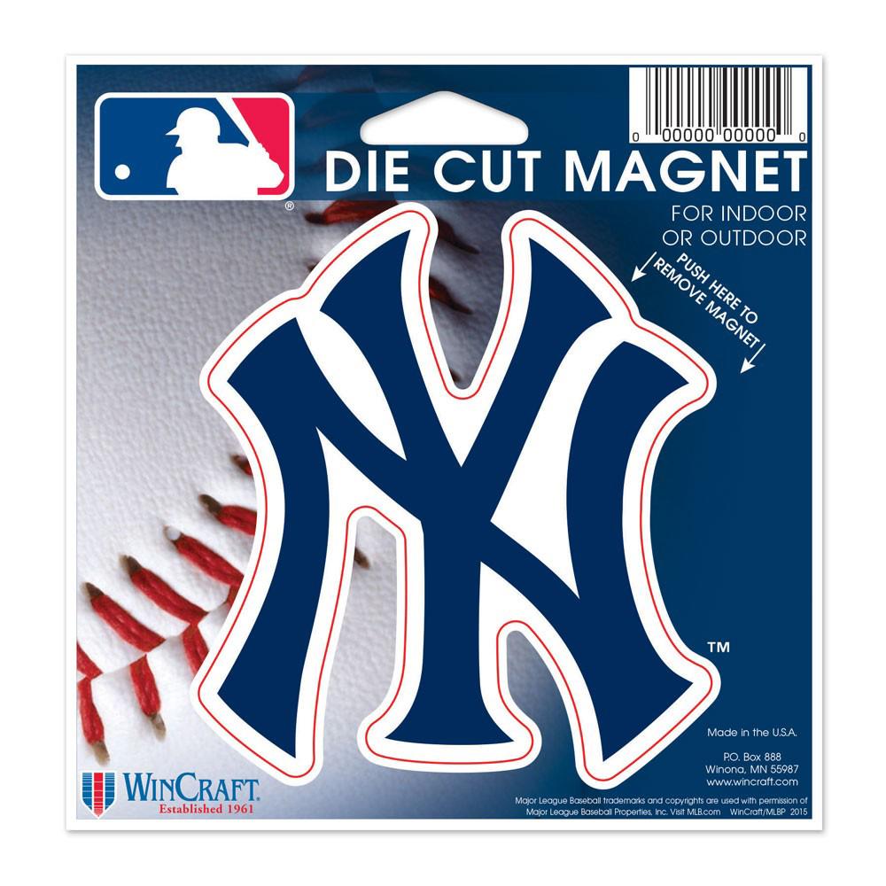 "New York Yankees WinCraft 5"" Die-Cut Car Magnet - No Size"