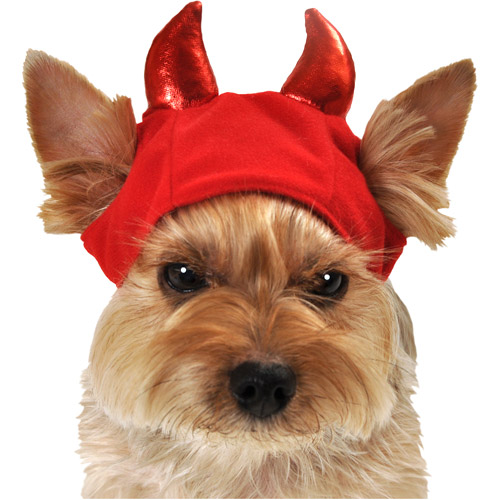SimplyDog Devil Headpiece Dog Accessory, Multiple Sizes Available