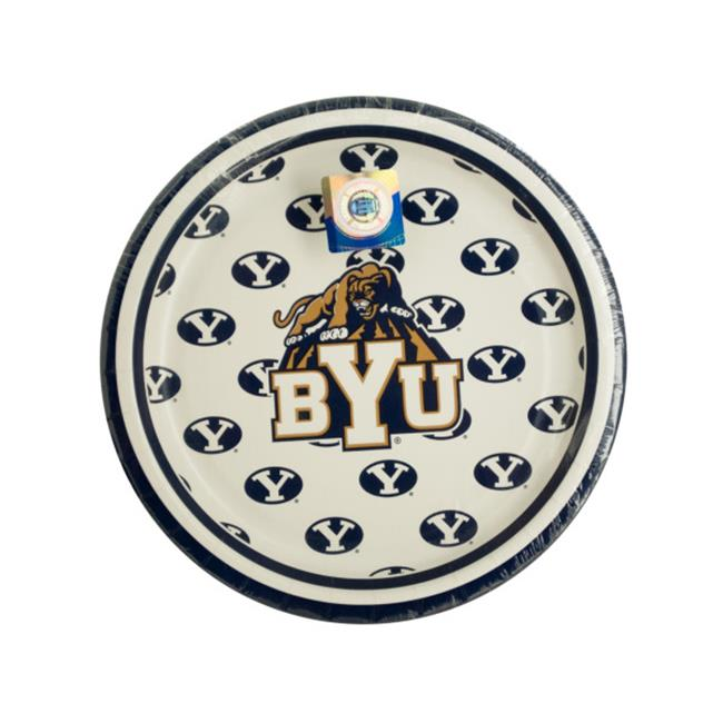 Bulk Buys PB530-96 Brigham Young University Dessert Party Plates, 96 Piece