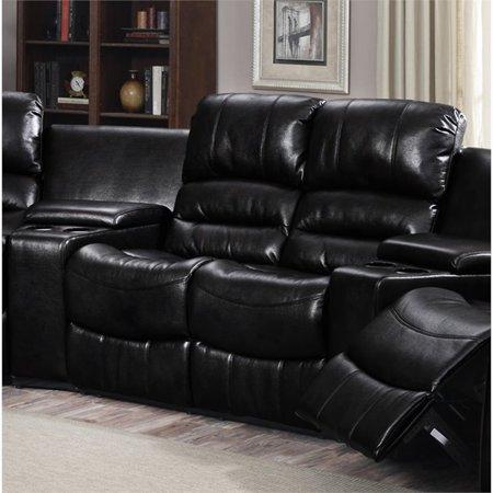 Strange Pemberly Row Bonded Leather Reclining Loveseat In Black Ibusinesslaw Wood Chair Design Ideas Ibusinesslaworg