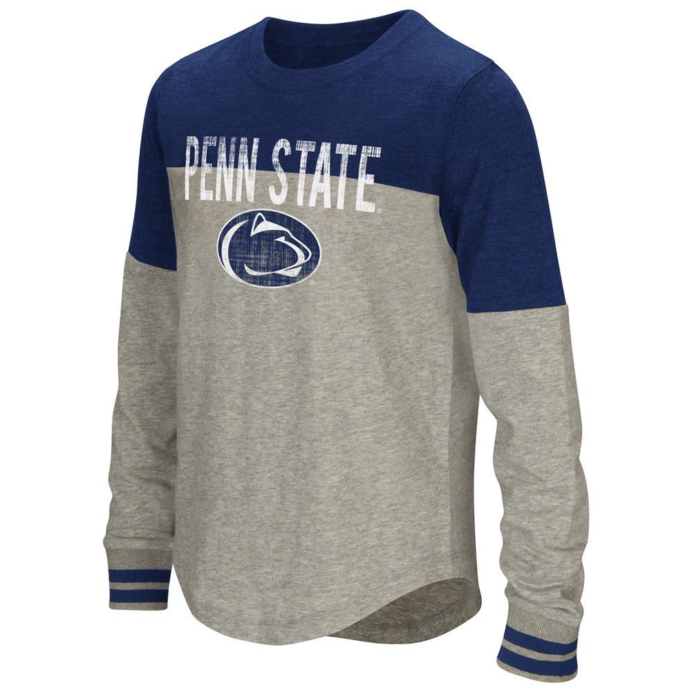 Youth Girls' Baton Penn State University Long Sleeve Shirt