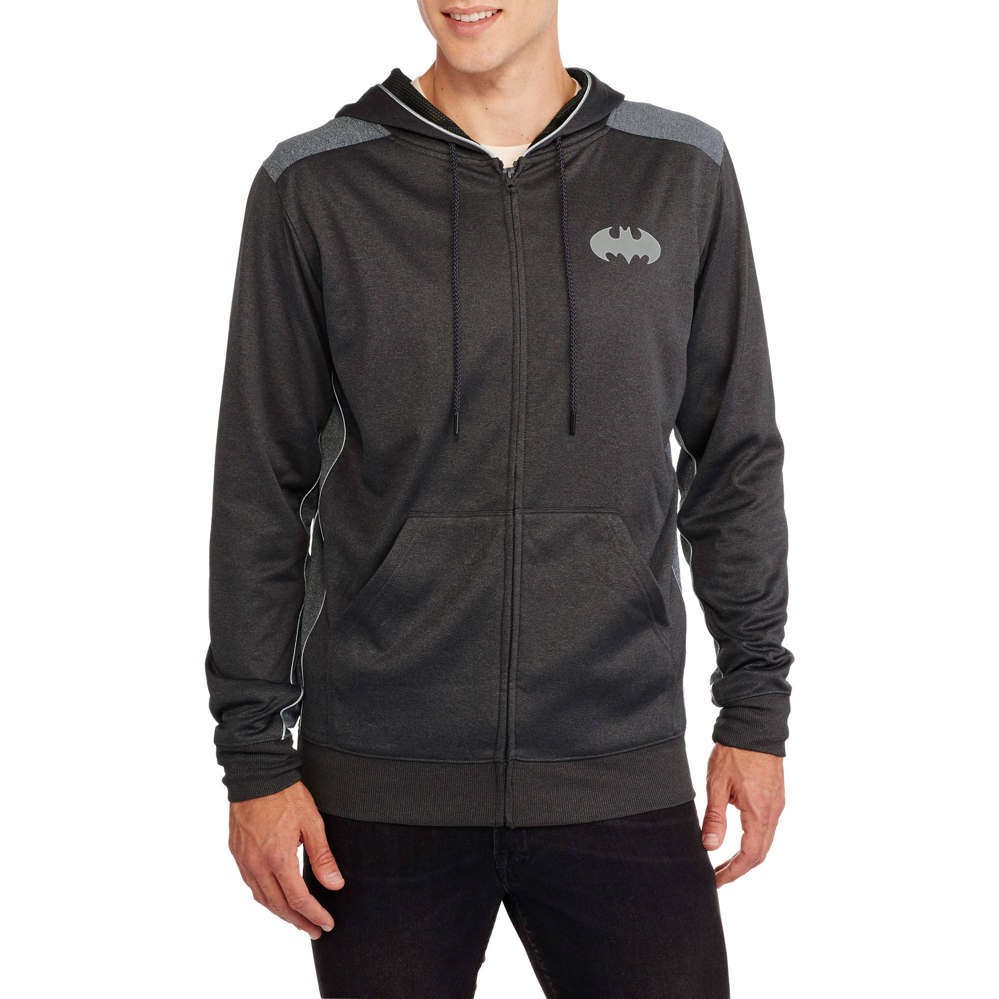 Batman Big Men's Cationic Reflective Poly Hoodie, 2XL by