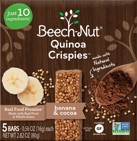 Beech-Nut Stage 3 Quinoa Crispies (Pack of 16)