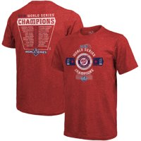 Washington Nationals Majestic Threads 2019 World Series Champions Roster T-Shirt - Red