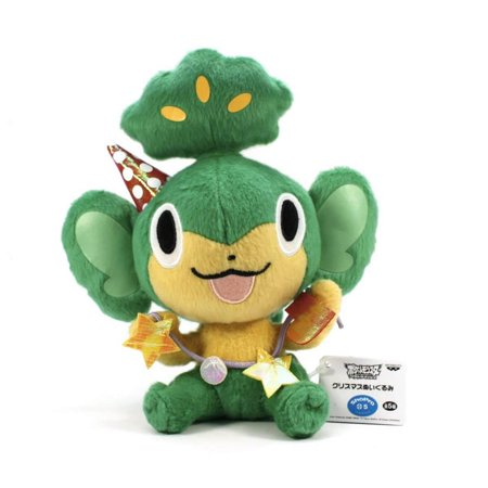 Pokemon Black and White Best Wishes Christmas Plush - Pansage /