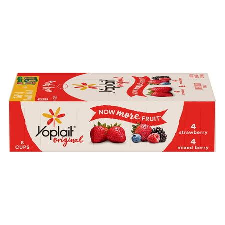 Yoplait Original Yogurt Variety Pack Strawberry/Mixed Berry 48 oz