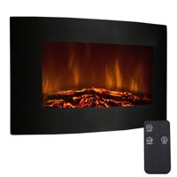 """Costway 35"""" Xl Large 1500w Adjustable Electric Wall Mount Fireplace Heater W/remote"""
