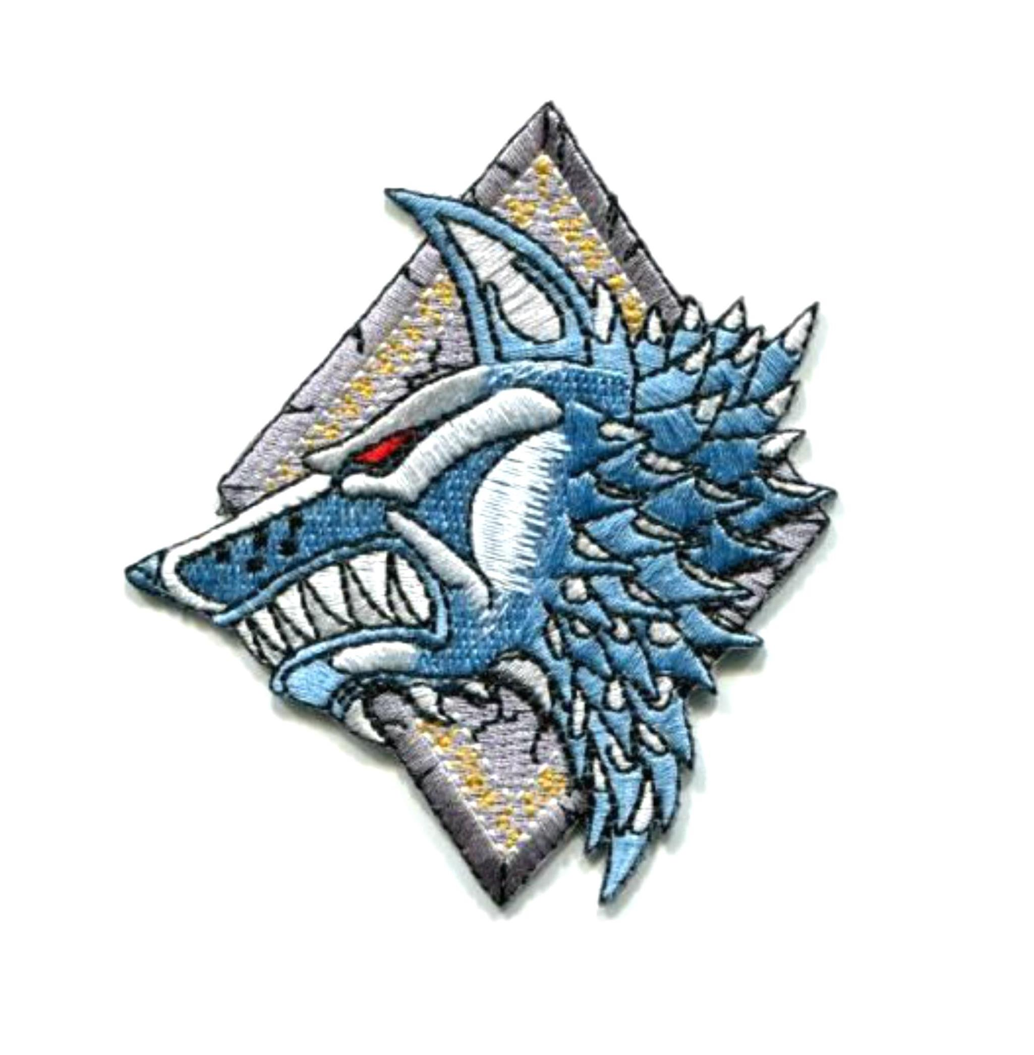 """Superheroes Warhammer 40K Space Wolves 3.5"""" X 3""""  Embroidered Iron/Sew-on Applique Patch"""