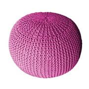 DecorFreak Pink Cotton Rope Pouf
