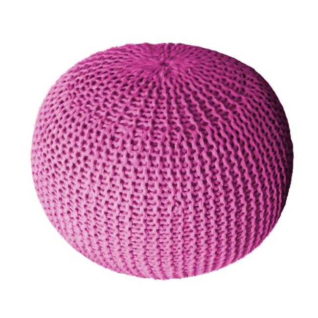 DecorFreak Pink Cotton Rope Pouf