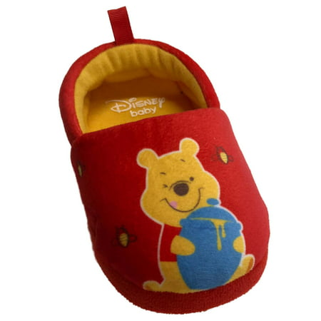Disney Infant Boys & Girls Red Winnie The Pooh Bear Slippers Baby Shoes
