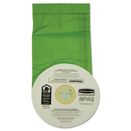 Rubbermaid Commercial Products 9VBPPB06 Disposable Vacuum Bags