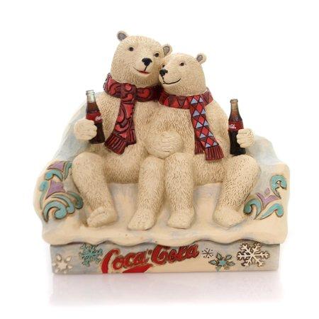 Jim Shore TASTE THE FEELING Polyresin Coca-Cola Polar Bears 4059475 ()