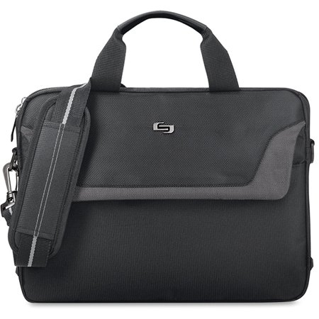 Solo, USLCLA1124, US Luggage Laptop Slim Brief, 1, Black