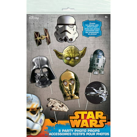 Star Wars Photo Booth Props, 8pc - Photo Booth Fun Props