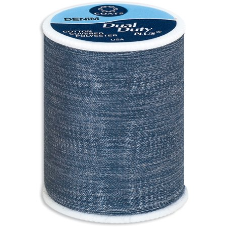 - Coats Dual Duty Plus Blue Denim Thread, 250 Yd.