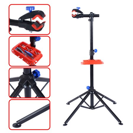 Pro Elite Bike Repair Stand - Gymax Pro Bike Adjustable Cycle Bicycle Rack Repair Stand