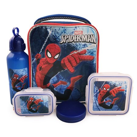 Spider-Man 5-Piece Lunch Kit](Spiderman Lunch Box)