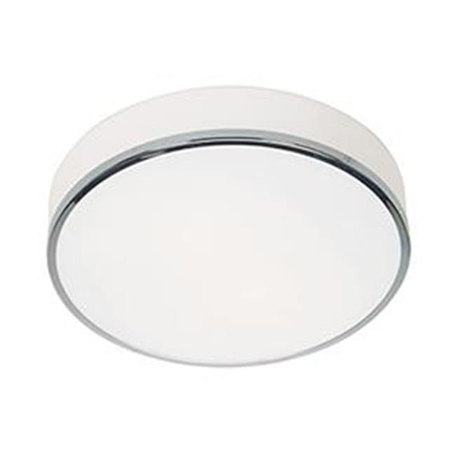 Access Lighting 20671LEDDLP-CH-OPL 13 in. Aero LED Chrome Flush Mount Ceiling Light by Access Lighting