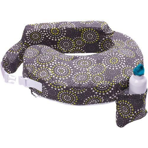 My Brest Friend Original Nursing Pillow, Grey & Yellow Fireworks
