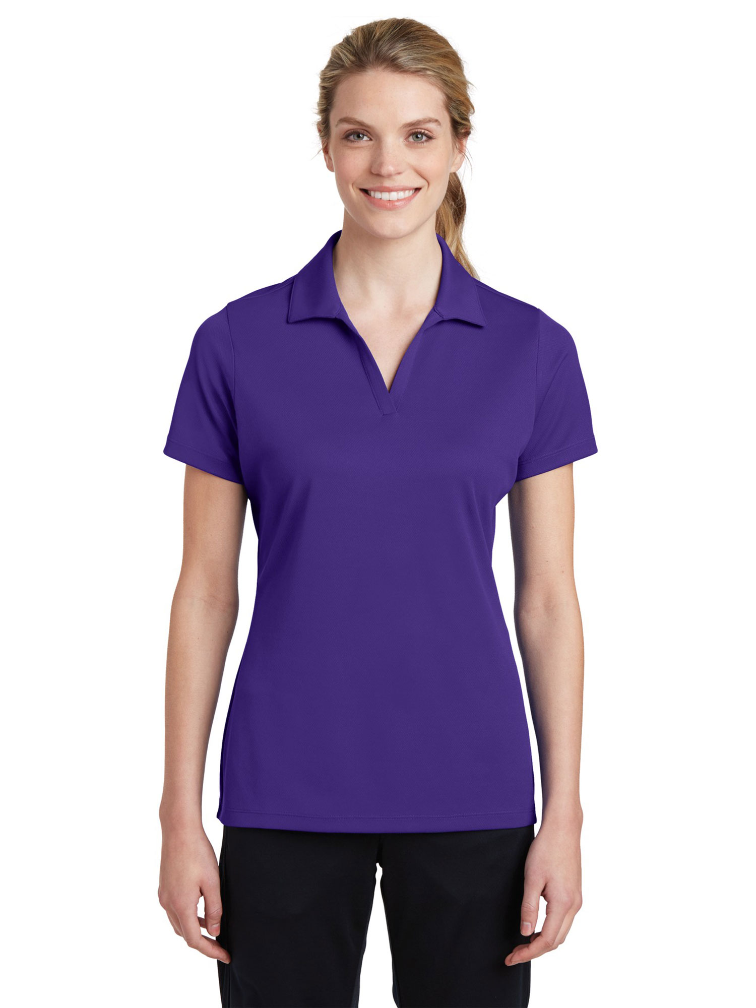 Sport-Tek Women's Breathable Polo Shirt_Black_L